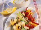 Vegetable Skewers with Yogurt Dip recipe