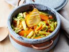 Vegetable Stew with Grilled Pears recipe