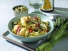 Vegetable Tagliatelle with Turmeric and Pistachio Butter recipe