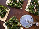 Broccoli and Spinach Flatbreads recipe