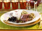 Venison Fillet with Balsamic Vinegar-glazed Cabbage recipe