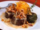 Venison with Hash Browns and Mushroom Sauce recipe