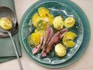 Venison with Mustard Potatoes recipe