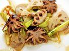 Warm Octopus, Lotus Root and Celery Salad recipe