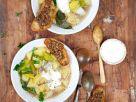 Warming Potato Soup with Mushroom Toasts recipe