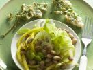 White Bean Salad with Fried Battered Parsley recipe