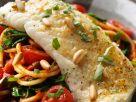 White Fish over Pasta recipe
