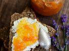 Whole-Wheat Bread with Cream Cheese and Melon Jam recipe
