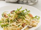 Whole Wheat Pasta with Crab and Pancetta recipe