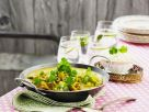 Yellow Curry with Chicken, Chickpeas and Cilantro recipe