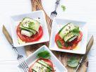 Zucchini and Feta Caprese recipe