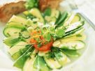 Zucchini-Cheese Salad with Tomatoes recipe
