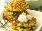 Zucchini Pancakes with Herbed Creme Fraiche recipe