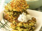 Zucchini Pancakes with Herbed Creme Fraiche recipe