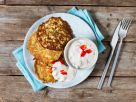Zucchini Pancakes with Paprika-Yogurt Dip recipe